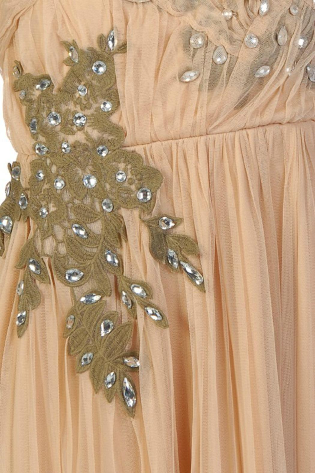 Ryu Strapless Nude Dress - Side Cropped Image