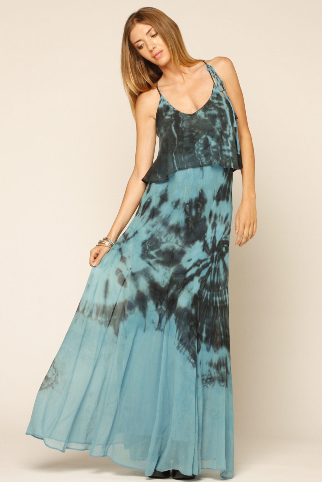 Gypsy Ruffle Tie Die Maxi from Marina by meggie. san francisco ...