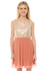 Shoptiques Product: Sequin Babydoll Dress