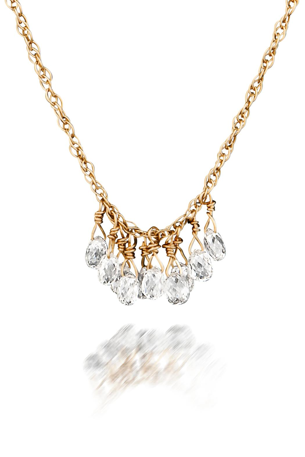 new cut necklace edition image limited natural diamond delicate briolette product of