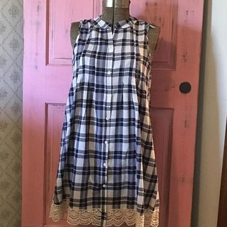 Shoptiques Checkered Lace Dress