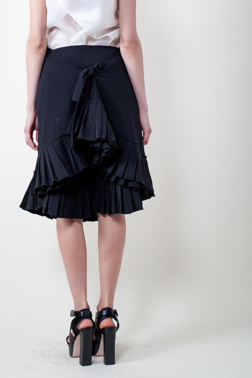 Calvin Tran Pleated Wrap Skirt - Side Cropped Image
