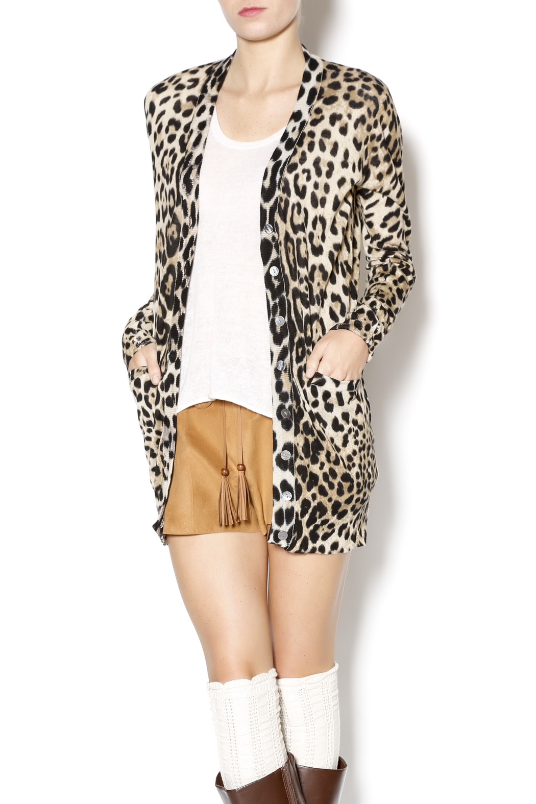 Ellison Leopard Print Cardigan from Texas by It's Swice — Shoptiques