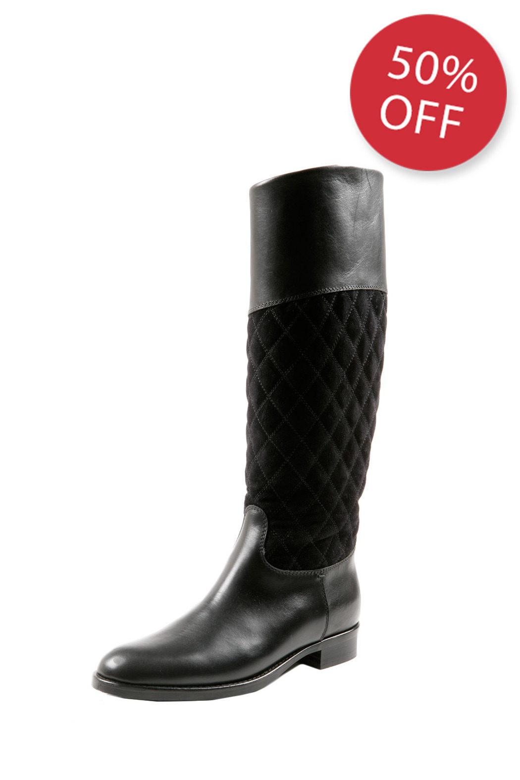 SPAZIOMODA Asymmetric Leather boots - Main Image