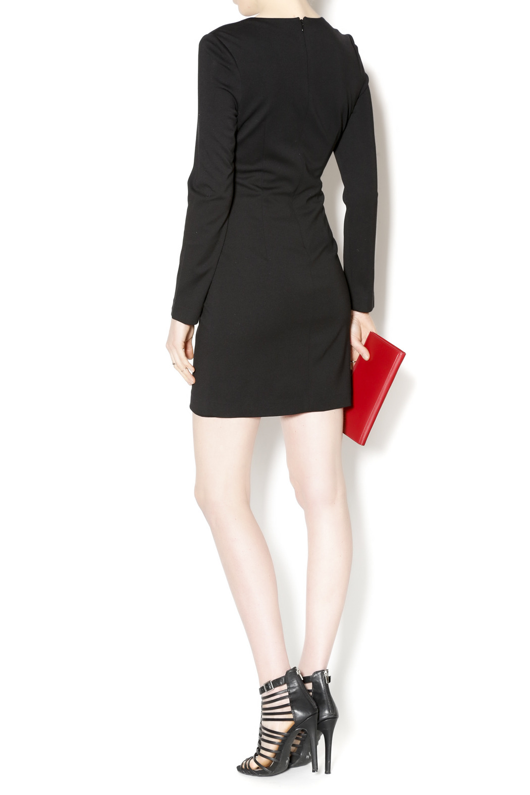 Black Label Black Scoop Hem Dress - Side Cropped Image