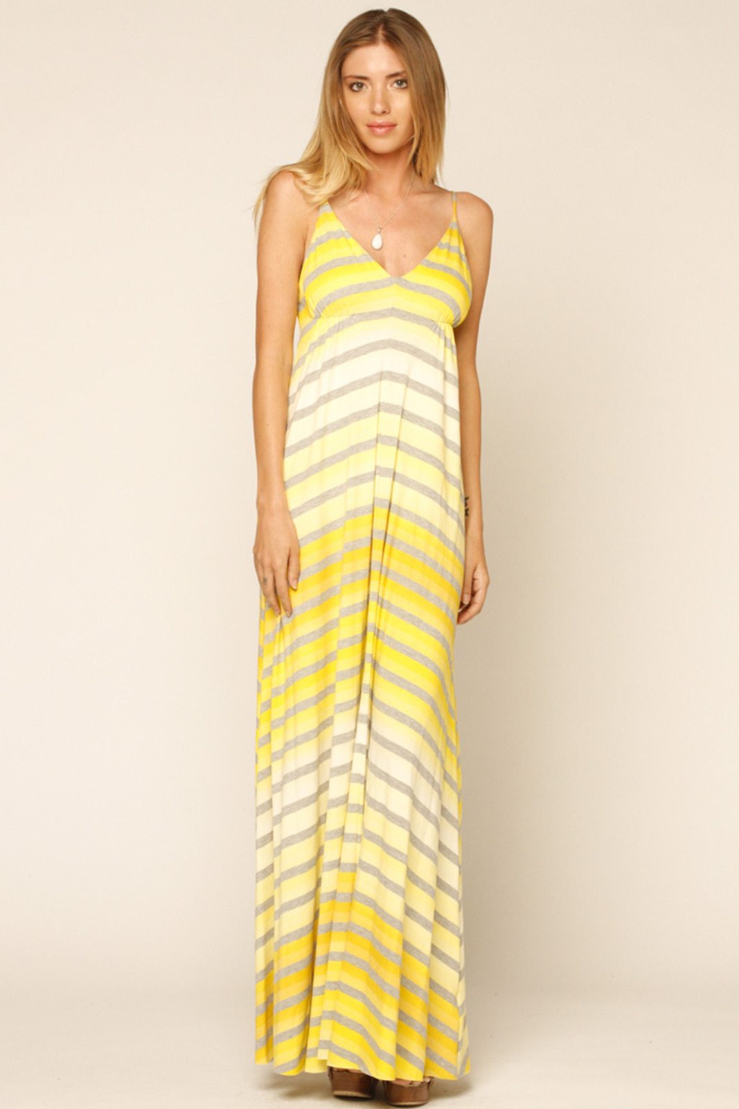 Eight Sixty Yellow Striped Maxi Dress from Marina by y&i clothing ...