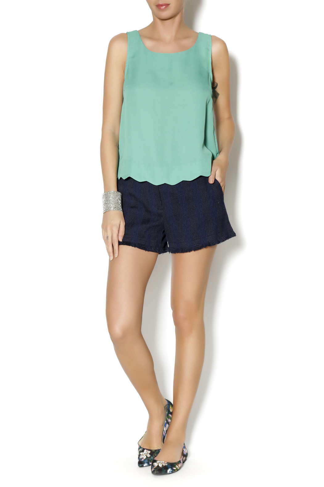 Byrds Mint Fashionable Tank - Front Full Image