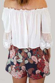 Dex High-Waisted Paisley Shorts - Back cropped