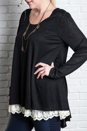 Umgee USA Black Lace Tunic - Product Mini Image