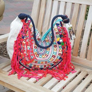 Shoptiques Product: Embroidered Fringe Bag