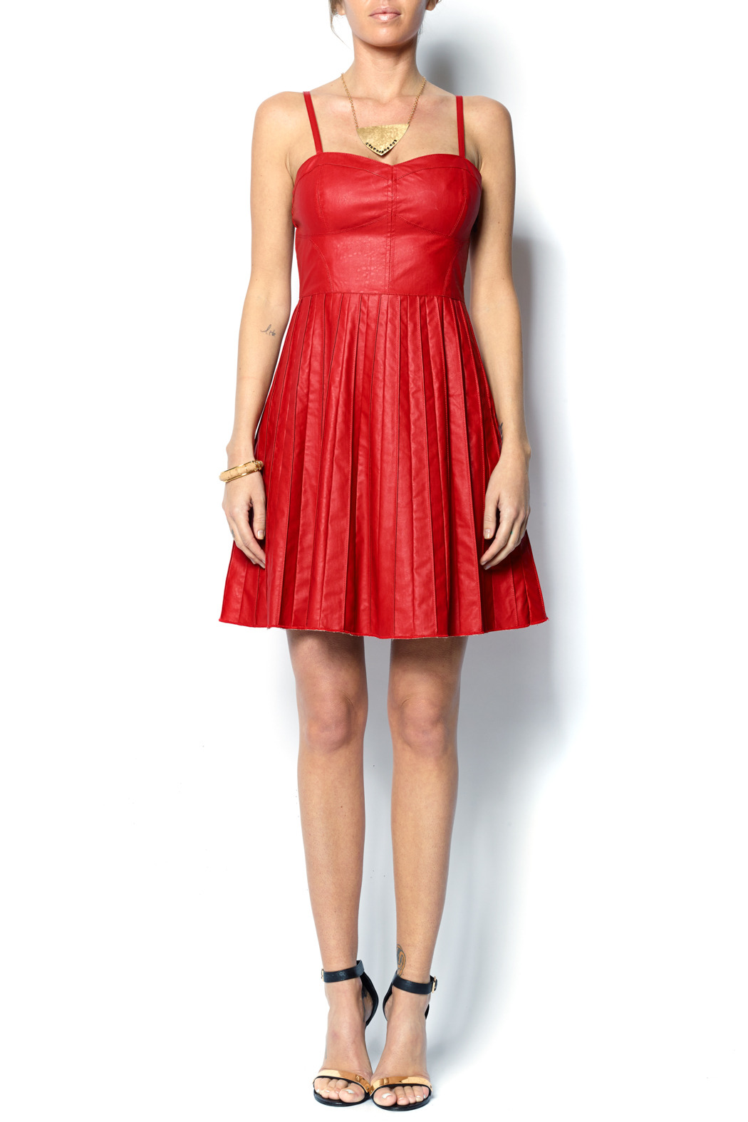 Ark Amp Co Faux Leather Red Dress From Charlotte By The