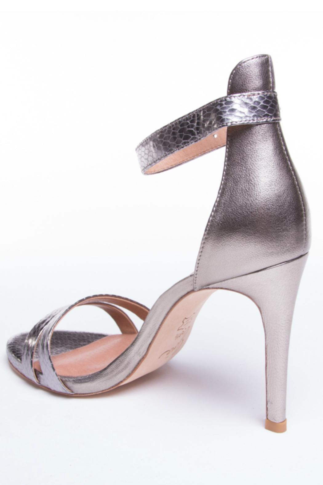 Pewter High Heeled Shoes And Bags Occasion