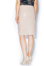 C. Luce Blush Leather Pencil Skirt - Back cropped