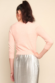 Charlotte Tarantola South Beach Flamingo Cardigan - Back cropped