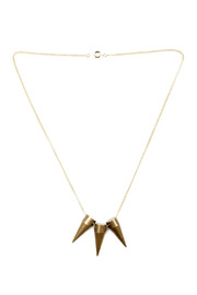 Three Cone Necklace - Front cropped