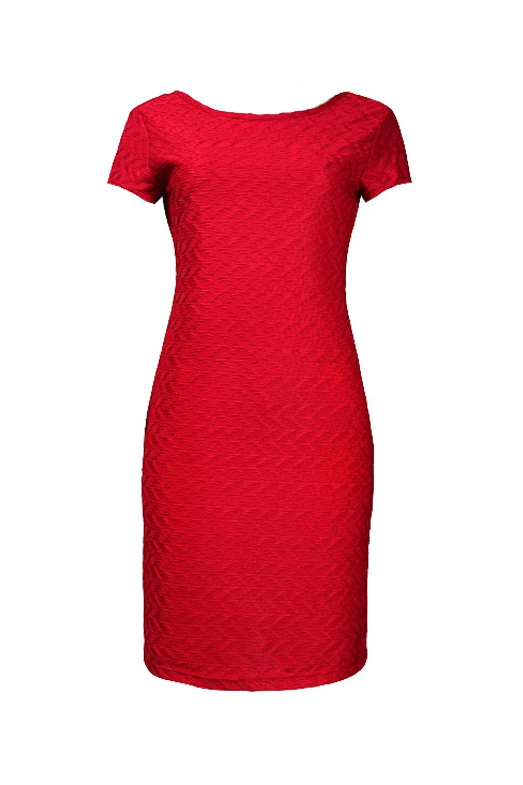 Sharagano Textured Jersey Dress From Maryland By Sosuku Boutique