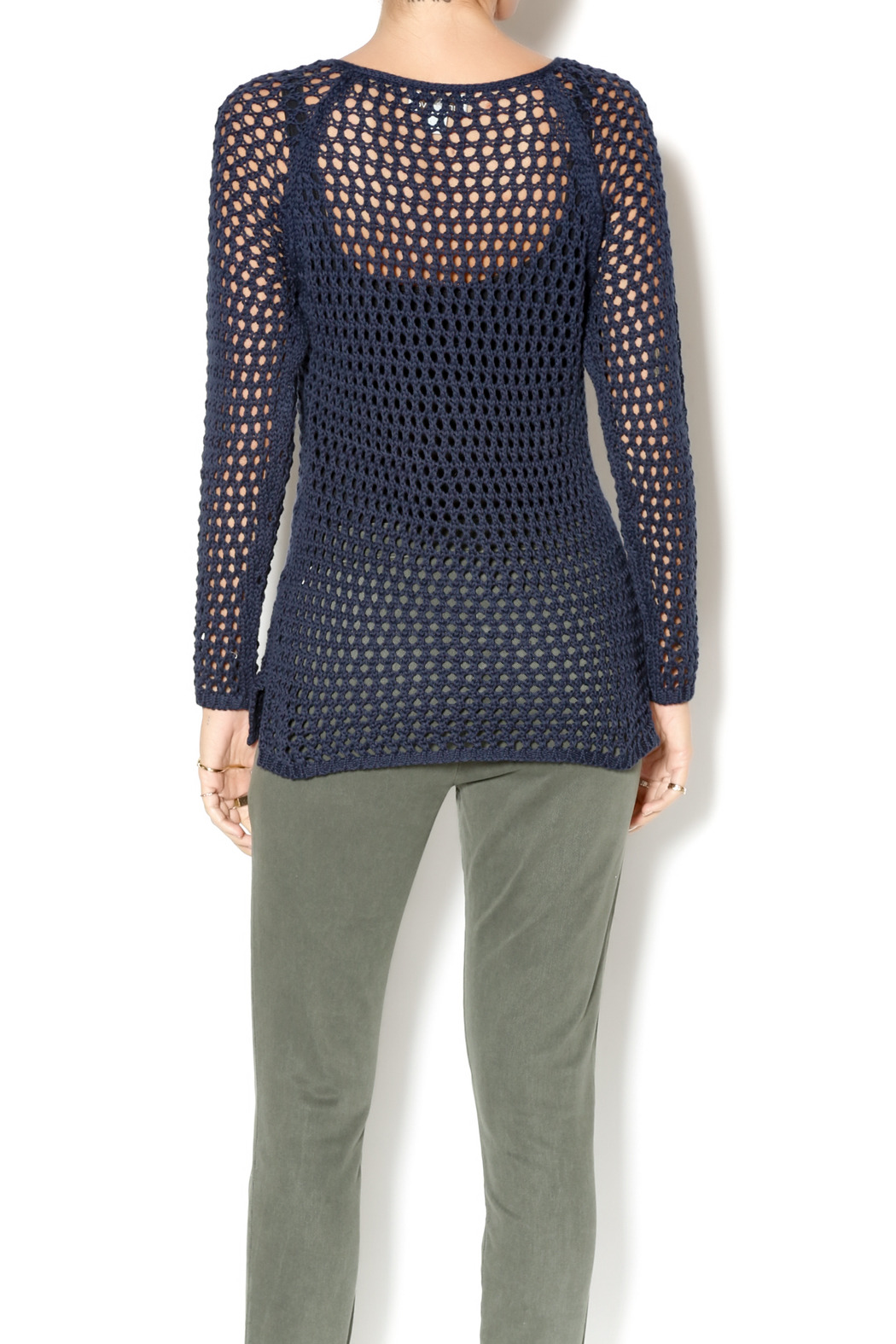 Wind River Navy Open Weave Sweater from New York by Ashlee's Place ...