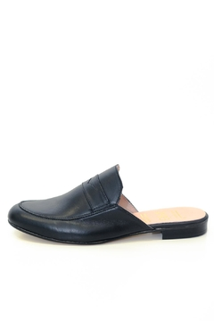 Shoptiques Product: Black Leather Mule Slip On