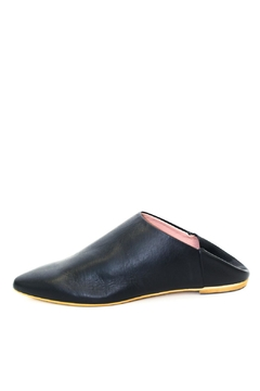 993 Black Leather Slide Shoes - Product List Image
