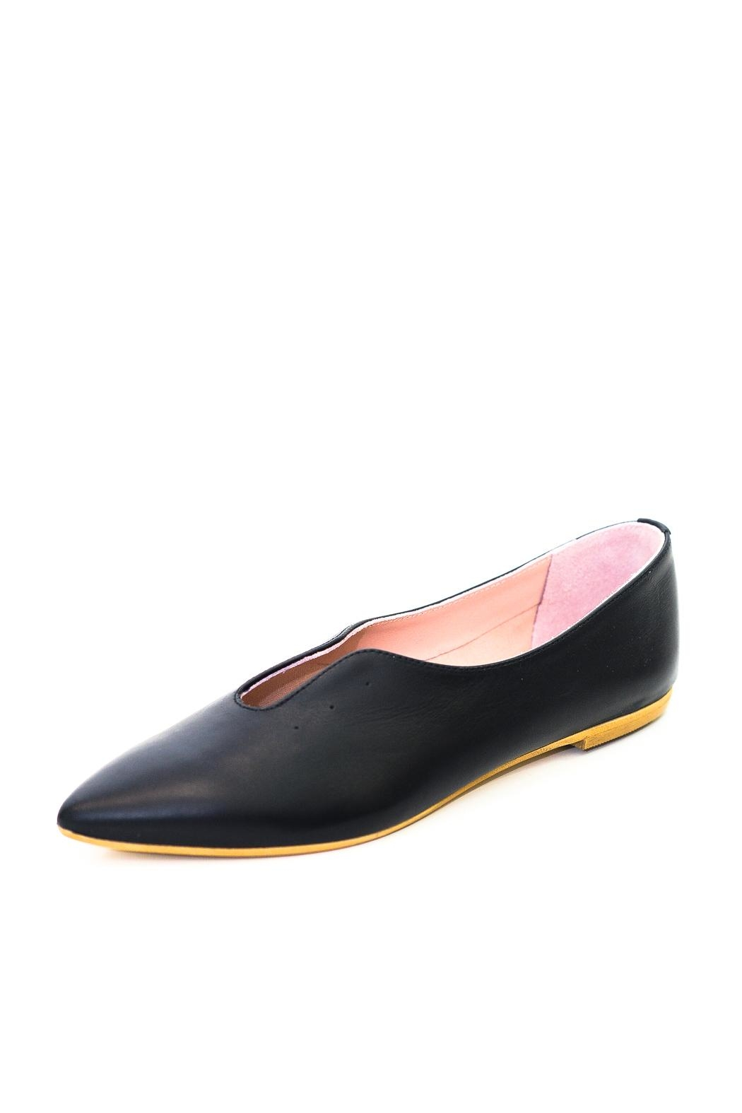 993 Black Pointed Ballerina - Front Full Image