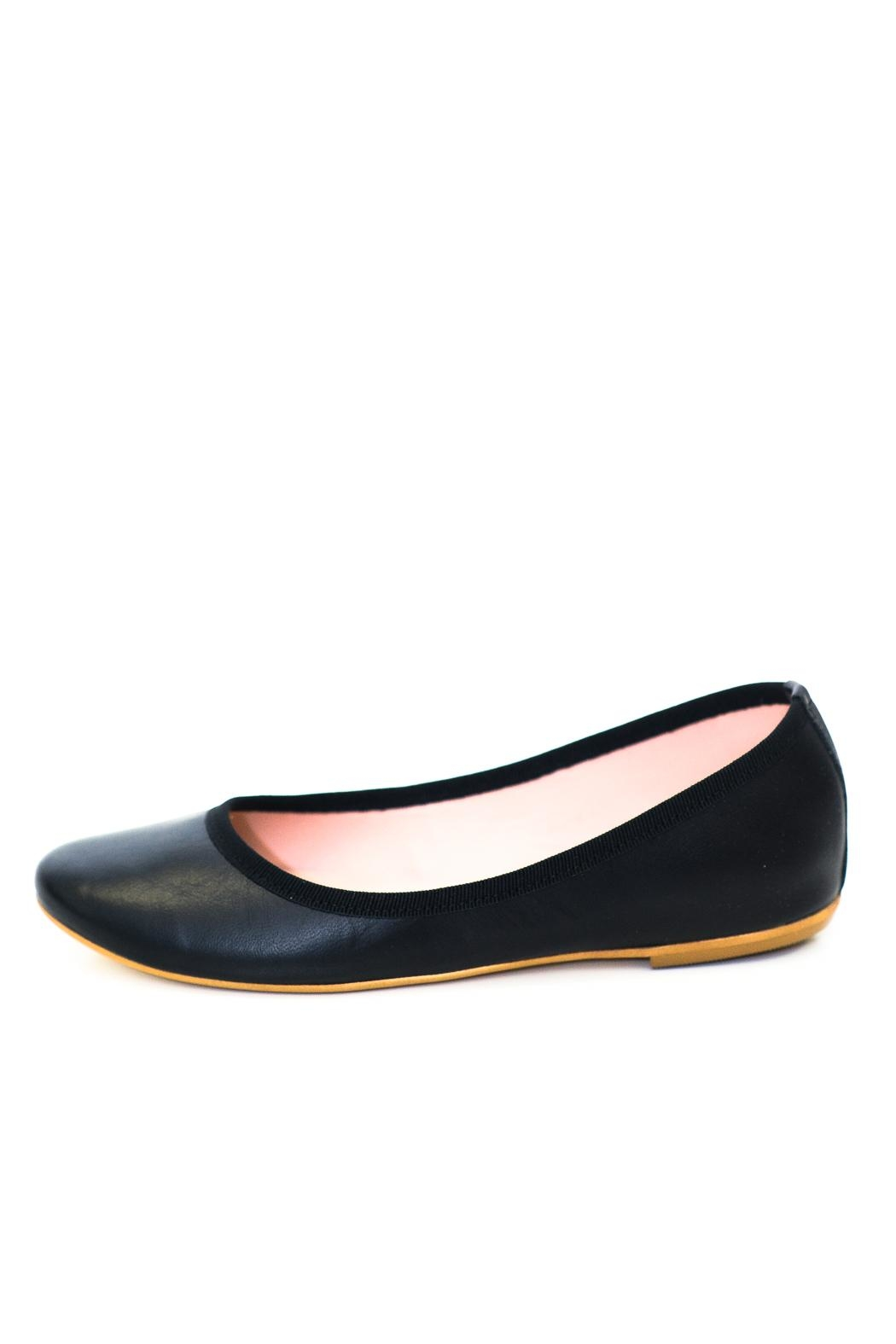 993 Black Wedge Ballerina - Front Cropped Image