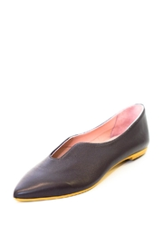 993 Brown Pointed Ballerina - Front full body