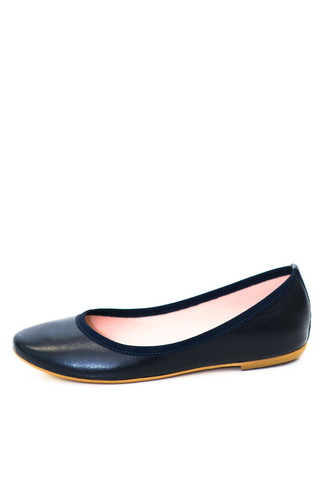 993 Navy Wedge Ballerina - Front Cropped Image