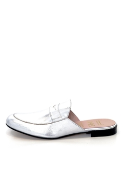 Shoptiques Product: Silver Leather Mule Slip On