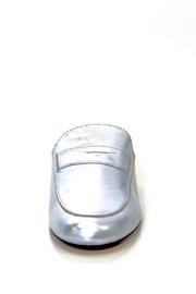 993 Silver Leather Mule Slip On - Side cropped