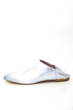 993 Silver Leather Slide - Product List Image