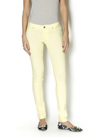 Karlie Neon Yellow Jeggings - Front cropped
