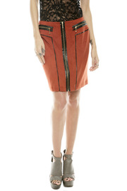 Shoptiques Product: Zipper Suede Skirt