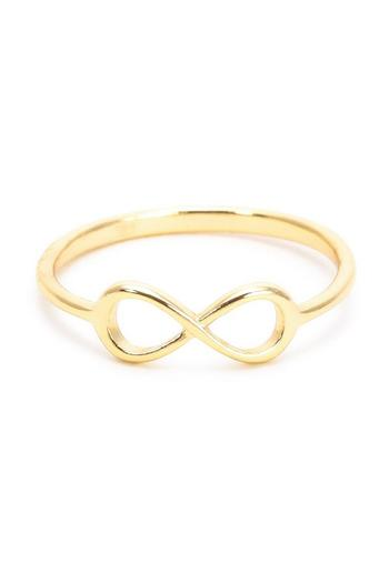 Earthy Chic Silver Infinity Ring - Main Image