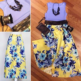 Yellow Floral Skirt  - Instagram Image