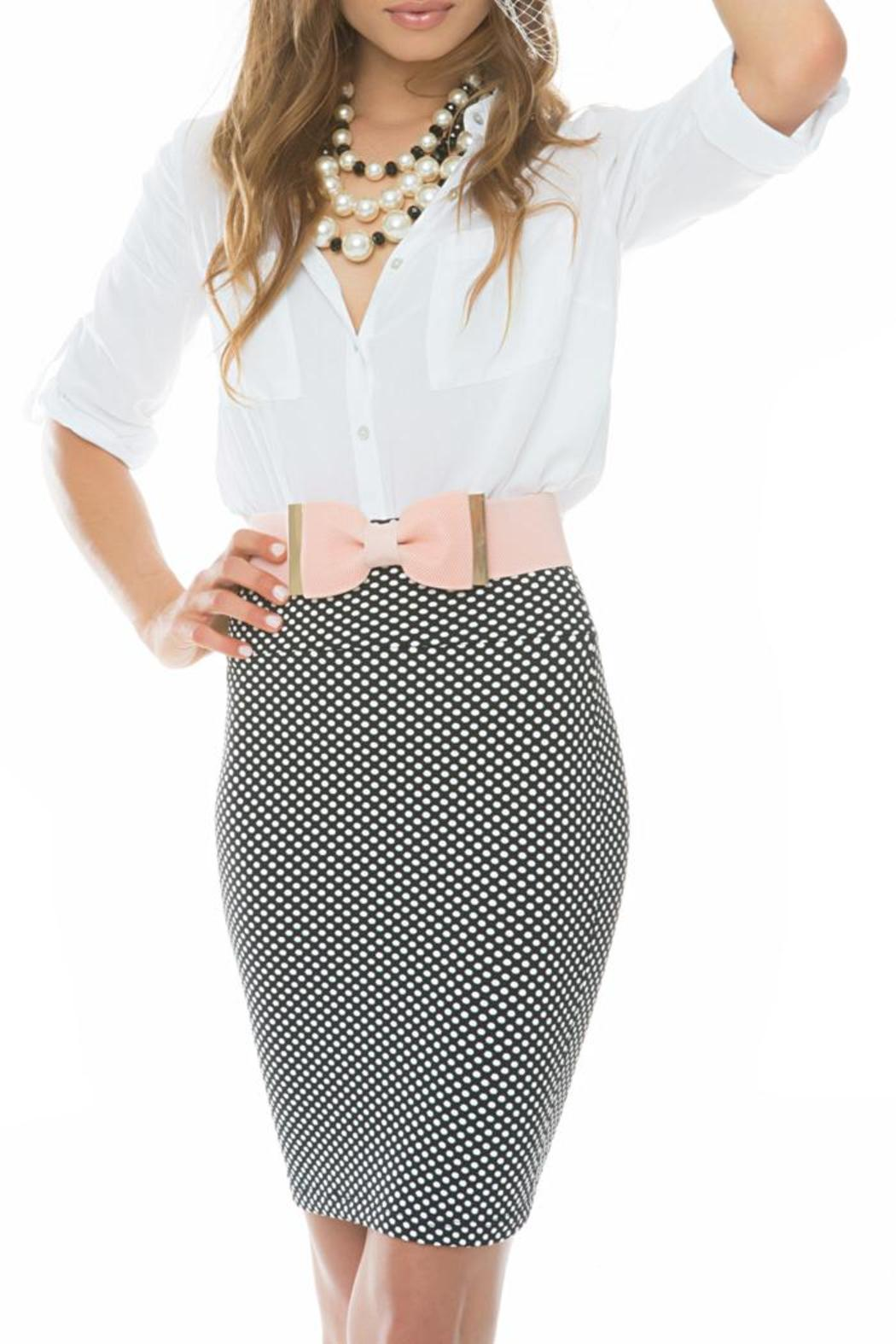 VARGA Dotted Pencil Skirt - Front Cropped Image