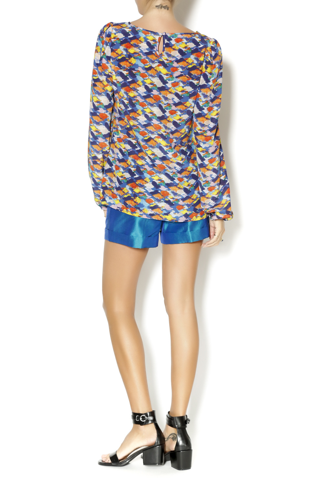 By Smith Monet Multicolor Blouse - Side Cropped Image