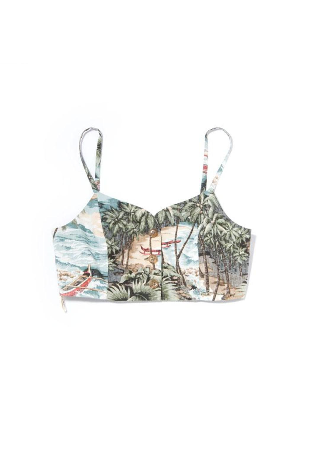 In God We Trust Reversible Hawaiian Bustier - Front Cropped Image