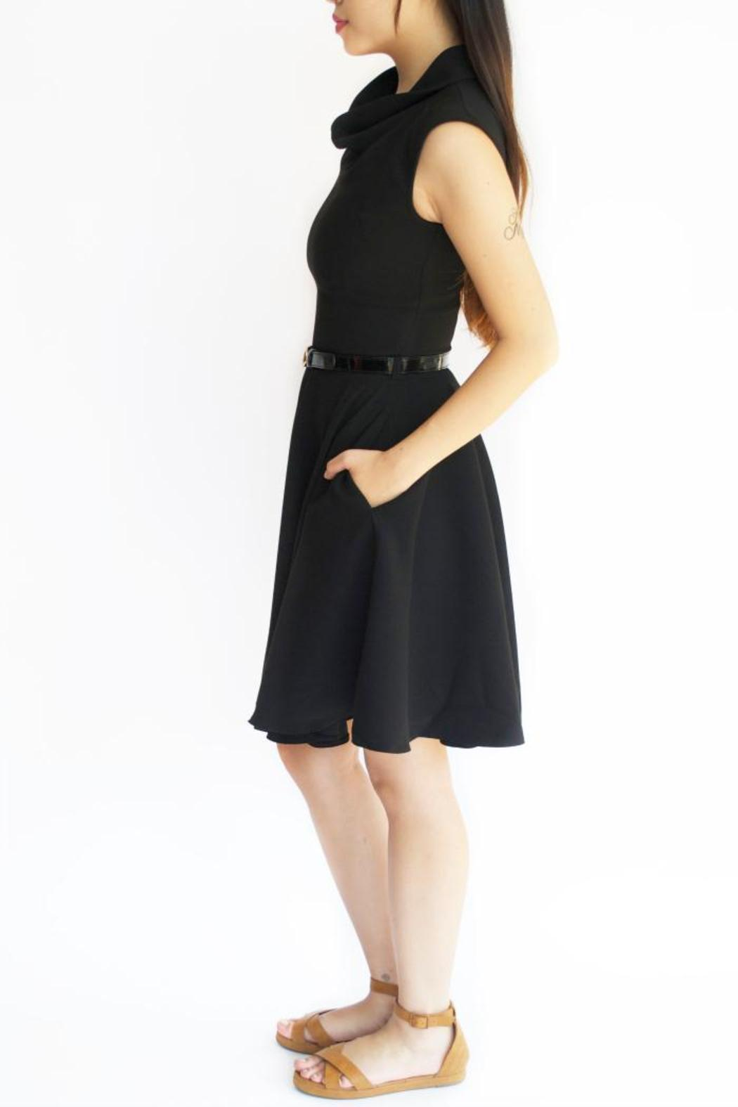 closet belted black dress from indiana by boutique