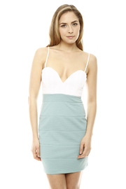 Shoptiques Product: Mint Color Block Dress