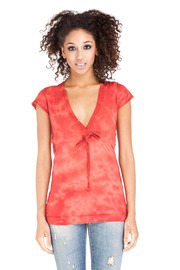 Maurices Rust Orange Cotton Top - Product Mini Image
