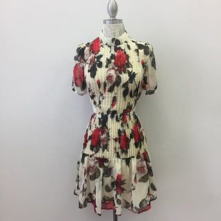 Shoptiques Floral Pleated Dress