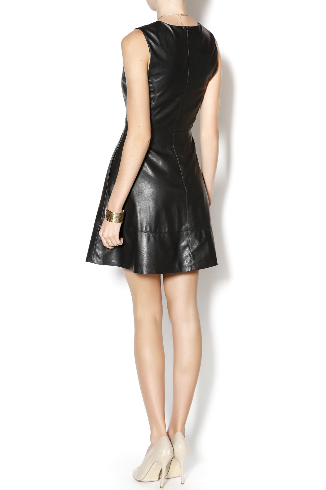Willow & Clay Faux Leather Dress - Side Cropped Image