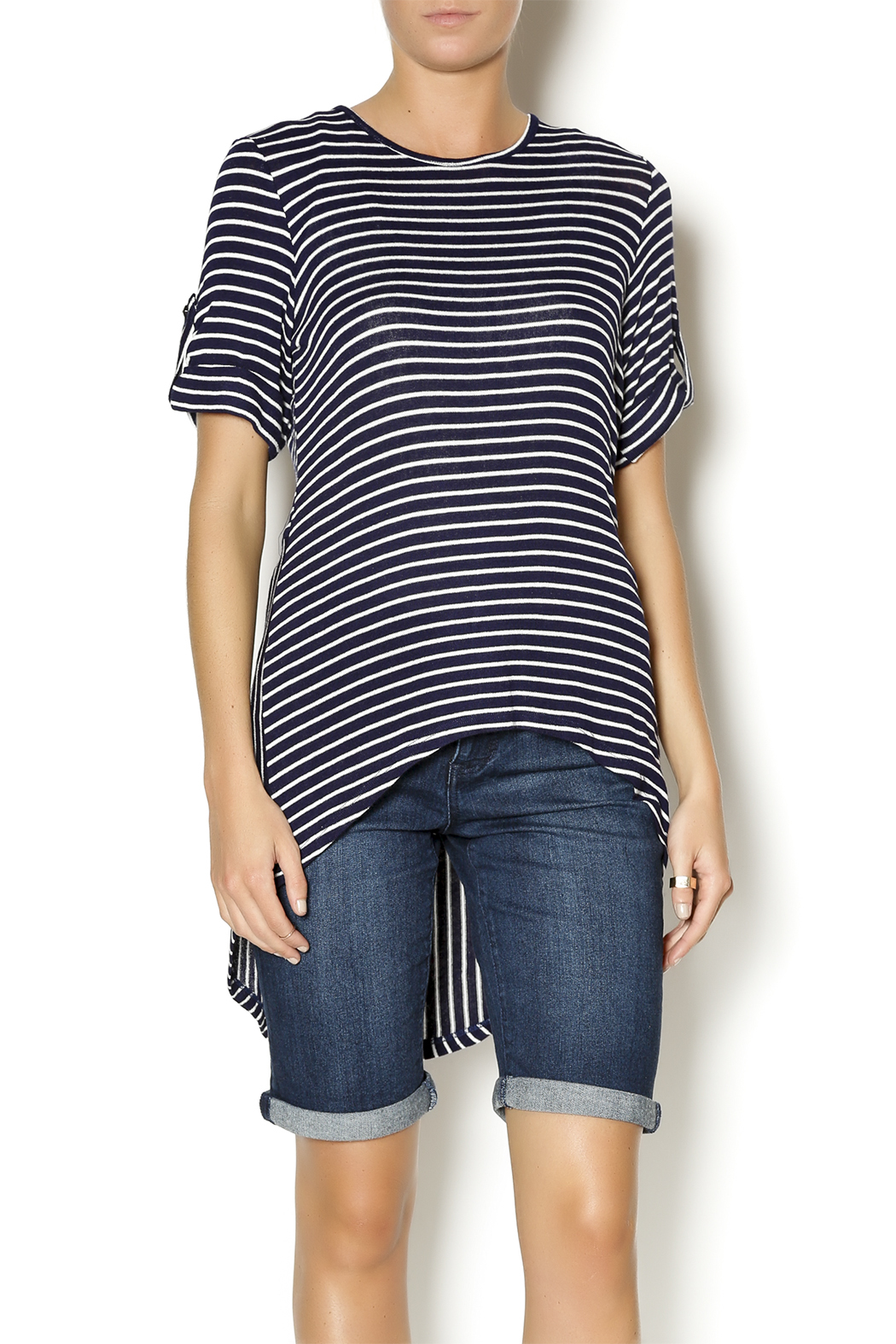 Mesmerize Striped High Low Top - Main Image