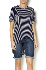 Mesmerize Striped High Low Top - Product Mini Image