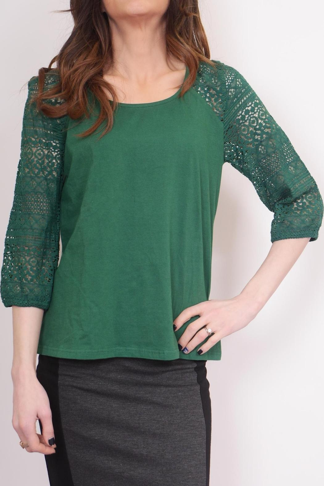 Schona Lace Sleeve Top - Main Image