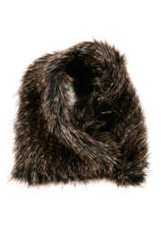 Shoptiques Product: Asymetrical Fur Scarf - Front cropped