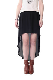 Shoptiques Product: Fluid Hi-Lo Georgette Skirt