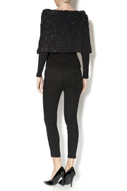 Talk of the Walk Textured Shimmer Sweater - Side cropped