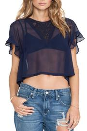 Tularosa  Navy Flutter Top - Front cropped