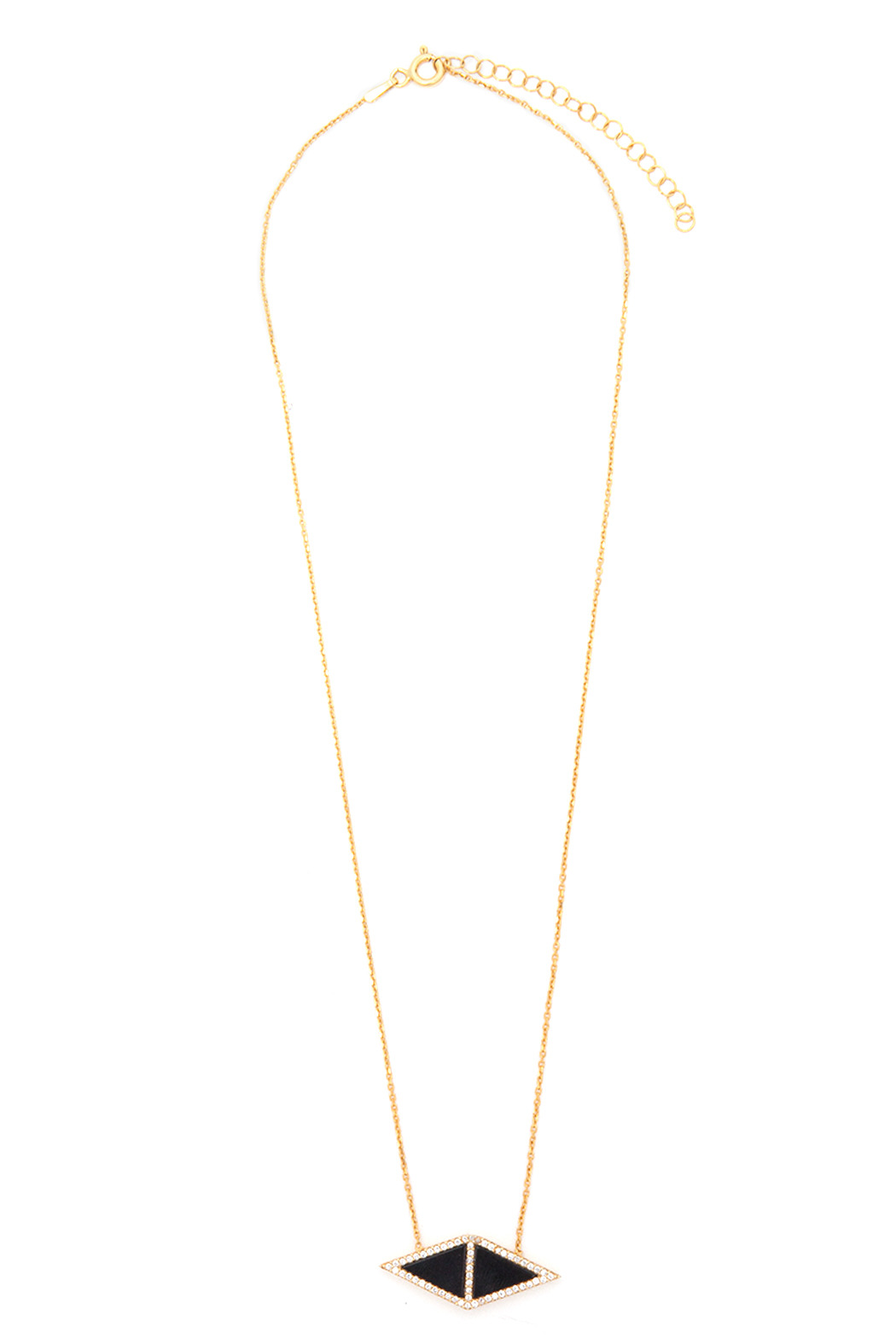 Tselaine Double Triangle Necklace - Front Full Image